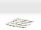 SR55 Rifle (Set of 5) in White Strong & Flexible