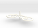 Minibike Bike Bycicle Mini in White Strong & Flexible Polished