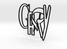 GARY logo (8cm) in Black Strong & Flexible
