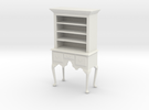 1:24 Queen Anne Highboy, with Shelves in White Strong & Flexible