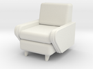 1:24 Moderne Club Chair in White Strong & Flexible
