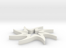 Twisted 8-pointed Star in White Strong & Flexible