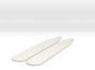 Shirt Collar Stays (pair) in White Strong & Flexible