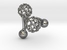 C60 (Fullerene) Cufflinks in Polished Silver