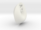 Cross Cap d2 (Coin) in White Strong & Flexible
