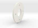 DSLR_bearing_plate in White Strong & Flexible