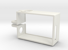 Rugged GoPro Hero3 vertical frame in White Strong & Flexible