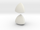 Jumbo (4cm) Meissner Solids in White Strong & Flexible