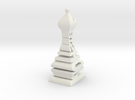 Typographical Bishop Chess Piece in White Strong & Flexible