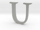 U (letters series) in Metallic Plastic