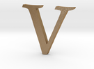 V (letters series) in Matte Gold Steel