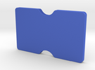 Slimline 3 card wallet in Blue Strong & Flexible Polished