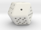 12 sided Dice in White Strong & Flexible