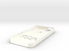 A-team iphone case in White Strong & Flexible Polished