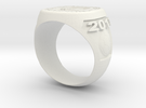 Soccer Ring (Championship) in White Strong & Flexible