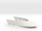 F1 Windshield - scale car in White Strong & Flexible