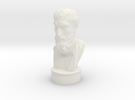 Epicurus 3.2 inches tall and hollow. in White Strong & Flexible