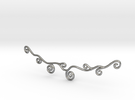 Curly Necklace in Raw Silver