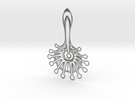 Mystic Flower Pendant in Raw Silver