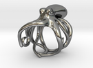 Octopus Ring 17mm in Polished Silver