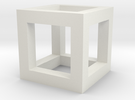 3mm Cube Frame in White Strong & Flexible