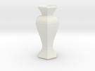 the teseract vase in White Strong & Flexible