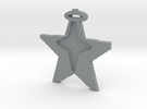 star in star pendant in Polished Metallic Plastic