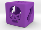 Blood Bowl Block Dice v2 in Purple Strong & Flexible Polished