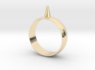 223-Designs Bullet Button Ring Size 14.5 in 14K Gold