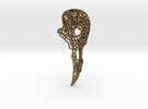 Bird Skull Filigree: 7cm in Raw Bronze