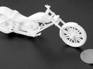 Fusionweld 2012 Chopper 1/20th Scale in White Strong & Flexible Polished