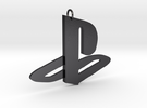 Playstation Logo Pendant in Polished Grey Steel