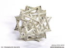 16 Triangles Silver in Polished Silver