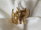 Foxy Ring in Polished Brass