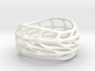 Panel Twist Hollow Ring (Sz 9) in White Strong & Flexible Polished