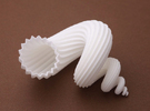 auger stellatus shell - seashell in White Strong & Flexible