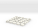 """D-Cell Battery Base 1.135"""" (25) in White Strong & Flexible"""
