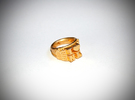 I Love Holland Ring D16 in Polished Gold Steel
