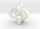 """HELLical Burr (27 moves, 2"""" version) in White Strong & Flexible Polished"""