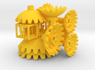 Yellow Gears & Tiles for the Multi-Gear Cube Kit in Yellow Strong & Flexible Polished