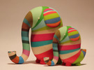 Morton the Elephant, medium size in Full Color Sandstone