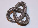 Braided Trefoil in Polished Nickel Steel
