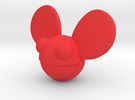 5cm Deadmau5 Head  in Red Strong & Flexible Polished