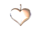 """Necklace Pendant """"HEART"""" Basic in White Strong & Flexible"""