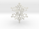 Small 3d Hex Based Snowflake in White Strong & Flexible