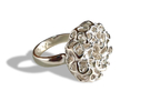 PERLA US Size 6.5 (16.8 mm) in Polished Silver