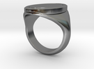 SIGNET RING SZ8 in Polished Silver