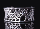 Bamboo Cuff (sz M) in Polished Silver