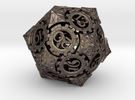 Steampunk D20 (Spindown) in Stainless Steel
