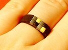 8-bit ring (US9/�18.9mm) in Black Strong & Flexible